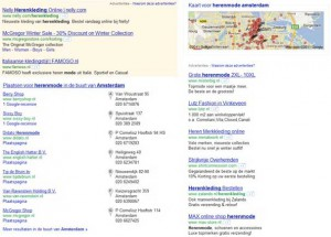 Herenmode Google Places